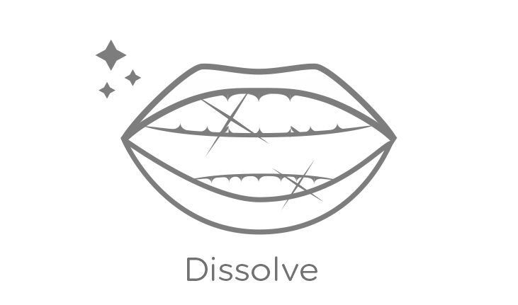 Teeth Whitening Strip Dissolves