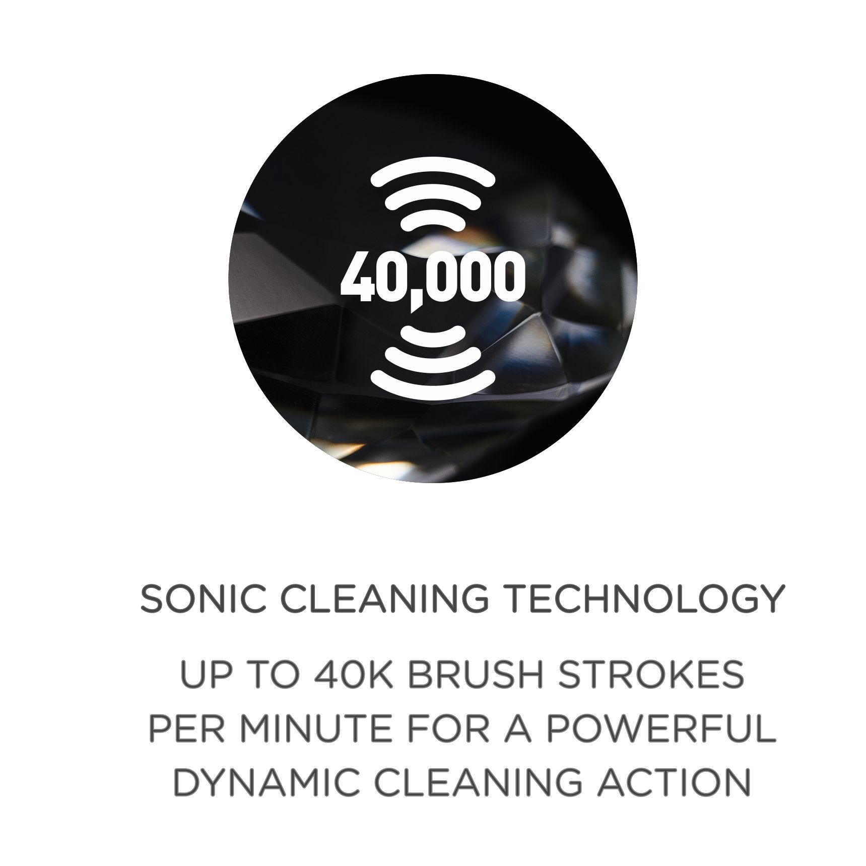 Toothbrush Sonic Cleaning Technology Icon